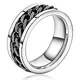AnazoZ Silber Plate Center Kette Damen Wave Weiß HEI Ringe Für Herren Größe 62 (19.7) Eingraviert