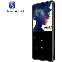 Sotefe® 16Go Lecteur MP3 Bluetooth 4.1 MP3 Players MP4 Lecteur Baladeur 2.4'' Écran Tactile Super Sonore Haut-Parleur FM Radio Enregistrement E-Book Musique Jouer Plus 80H (Soutien Carte à 128Go)