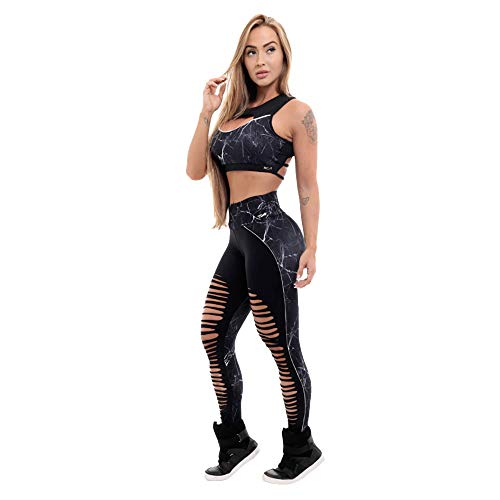 TianWlio Damen Leggings Sport Frauen Mode Trainingsgamaschen Fitness Sport Gym Laufen Yoga Athletic Hosen Schwarz L