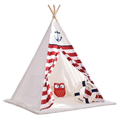derzelt Spielzelt Tippi Indianer Indianerzelt Kinderzimmer (Ohne Matratze) ()