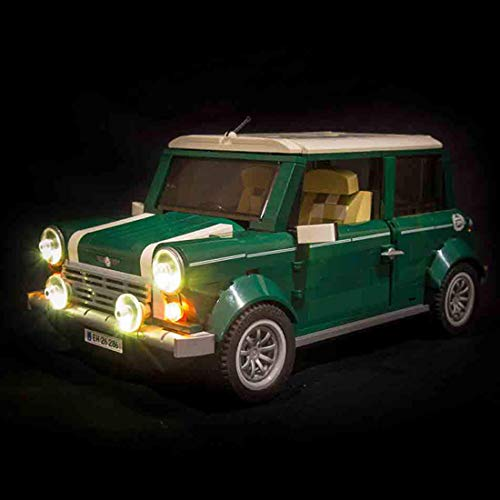 YOU339 LED Lichtset für Lego Mini Cooper Classic Car 10242, batteriebetriebenes LED Lichtbaustein Zubehörset (nur LED im Lieferumfang enthalten) (Mini Cars Lego)