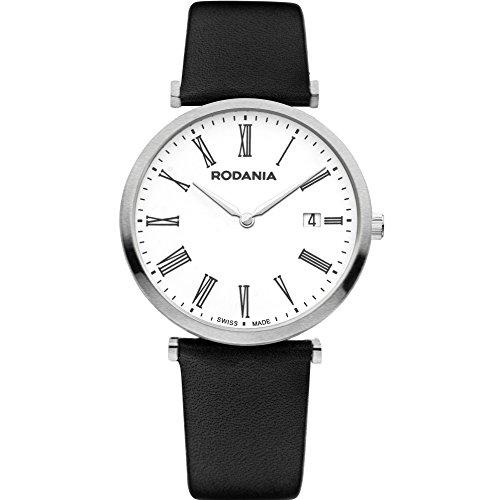 Rodania 25056–22Uhr für Frauen, Lederband schwarz