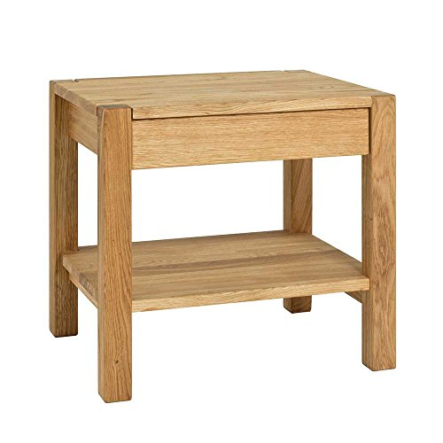 Eiche Traditionellen Sofa-tisch (Massivholz Beistelltisch mit Schublade Eiche Pharao24)