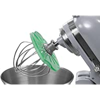 Whisk Wiper® PRO for Stand Mixers - Mix Without The Mess - The Ultimate Stand Mixer Accessory - Compatible With KitchenAid Tilt-Head Stand Mixers - 4.5qt, 5qt (Color: Aquamarine)