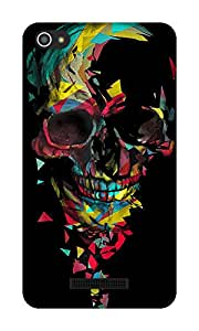 The Racoon Lean Broken Skull hard plastic printed back case / cover for Micromax Canvas Hue 2 A316