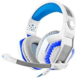 Gaming Headset, beexcellent estéreo Gaming auriculares con micrófono luz LED para PS4PC Gamer/ordenador portátil/Mac iPhone GM-2-White