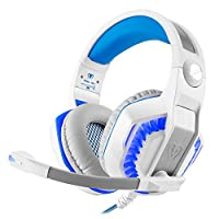 Gaming Headset , Beexcellent Stereo Gaming Earphone with Microphone LED Light for PS4 /PC Gamer /Laptop /Mac iPhone - White