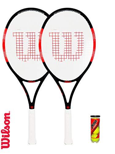 WILSON 2 x Federer Pro 105 Graphite Tennisschläger + Schlägerhülle + 3 - Für Schlägerhülle Tennisschläger