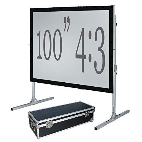 254cm Fast Fold Projektionsfläche, vorne & hinten, 4: 3HD - Drei-fold-bildschirm