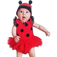 Baby Jungen Mädchen Ärmellos Strampler mit Mütze Spielanzug Set Fasching Kostüm