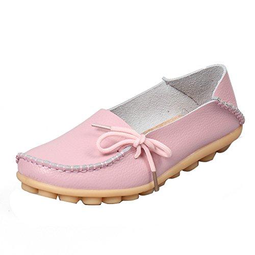 Gaorui chaussures femme semelle plate pour travail et sortir occasionnelle Rose