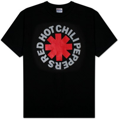 Red Hot Chili Peppers Black Asterisk Camiseta