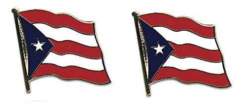 Yantec Flaggenpin 2er Pack Puerto Rico Pin Anstecknadel Fahnenpin -