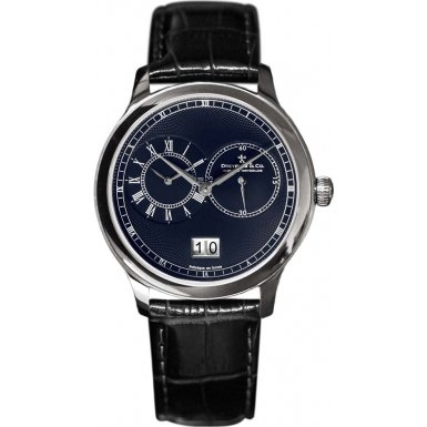 Dreyfuss and Co DGS00120-05 Mens Blue Black Leather Strap Watch
