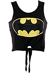 MyMixTrendz-shirt court Batman Superman pour femme Attaches sur le gilet