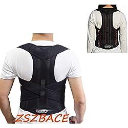 ZSZBACE Haltungskorrektur Geradehalter Ultradünn Atmungsaktiv Superelastisch Rückenbandage zur Schulter Rücken Taille für Männer und Frauen (Schwarz-L)