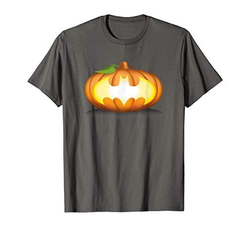 Batman Halloween Pumpkin Logo T Shirt