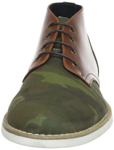 Swear London CHAPLIN10C Herren Stiefel Grün (GREEN CAMO CANVAS/WHITE SOLE)