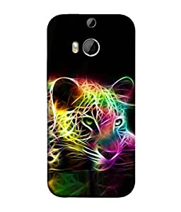 PrintVisa Abstract Tiger Pattern 3D Hard Polycarbonate Designer Back Case Cover for HTC One M8 :: HTC M8 :: HTC One M8 Eye :: HTC One M8 Dual Sim :: HTC One M8s