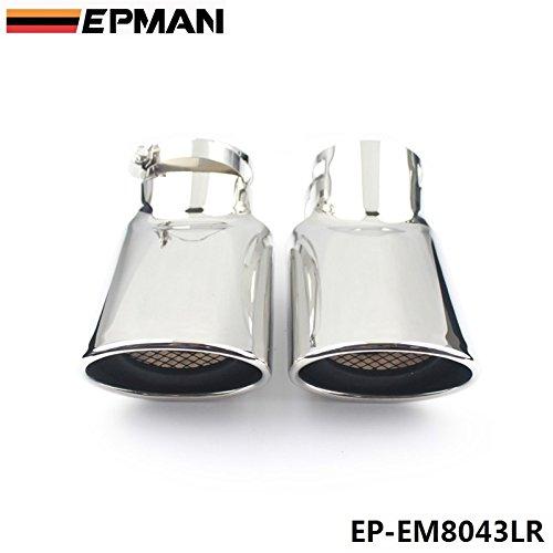 epman 2pezzi cromato in acciaio inox Marmitta Di Scarico Punta per Land Rover 05-12-range rover Diesel ep-em8043lr
