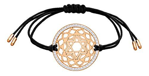 Nenalina Damen Armband mit Herz Chakra Anhänger in 925 Sterling Silber rosé-vergoldet mit Swarovski Steinen besetzt…