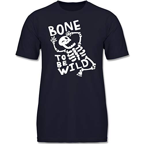 ne to me Wild Halloween Kostüm - 128 (7-8 Jahre) - Dunkelblau - F130K - Jungen Kinder T-Shirt ()