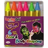 Neon Colour Face and Body Crayons - Brighten Up Your Halloween