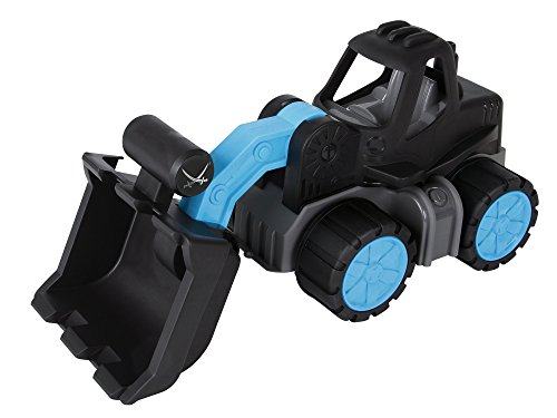 BIG Power-Worker Wheel Loader Sansibar vehículo de Juguete - Vehículos de Juguete (Negro, Azul, 2 año(s), 5 año(s), Niño, TÜV, 200 mm)