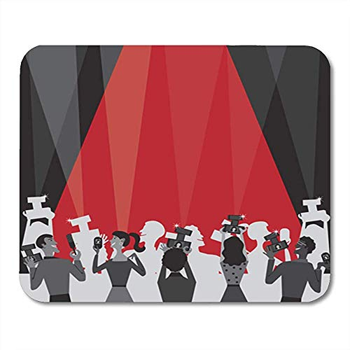 Gaming Mouse Pad Hollywood Movie Award Party Plenty of Room for Your 25*30cm Decor Office Nonslip Rubber Backing Mousepad Mouse Mat