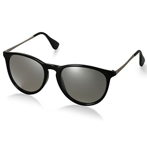 Aroncent Gafas de Sol Polarizada de Moda contra UV400 Sunglasses Lente Clásica Protección de Ojos para Viaje, Golf, Conducción, Ciclismo y Actividades Exteriores para Hombre Mujer Unisex (Gris)