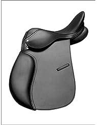 """Piel General Purpose halflinger sillín 18""""asiento color negro ajuste ancho"""