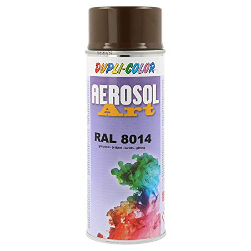 Spraydose Dupli Color AEROSOL ART RAL 8014 - Sepiabraun glänzend 400ml (Braun Aerosoles)