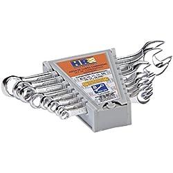 Alyco 170180–Steckschlüsselsatz 8HR HIGH RESISTANCE DIN 3113Cr-V Chrom glänzend in Box, Carton