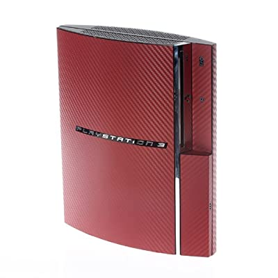 PS3 Playstation Original FAT Red Textured Carbon Skin Wrap from Sony Playstation