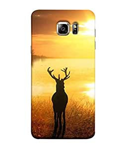 Printvisa Designer Back Cover for Samsung Galaxy S6 G920I, Samsung Galaxy S6 G9200 G9208 G9208/Ss G9209 G920A G920F G920Fd G920S G920T (Animal Atmosphere Autumn Day Beauty Bright Beautiful Cattle)