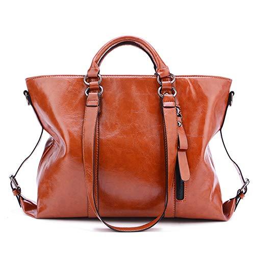 poti Umhängetasche Tragetasche Taschen Leder Schultertaschen Messenger Einstellbar Neu Elegant Shopper Crossbody Bag Beuteltasche (Braun) ()