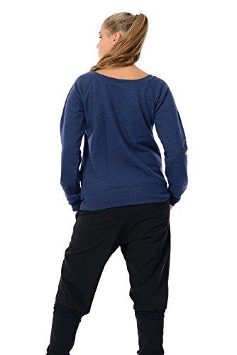 Femmes De Épaule Pull / Sweater off-shoulder Femme / Pull dames avec petit fée de 3Elfen - col bateau Bleu Noir