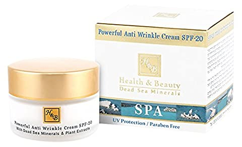 Health and Beauty Dead Sea Minerals Powerful Anti wrinkle Cream SPF-20 by H&B