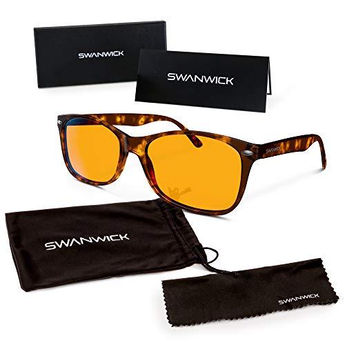 Swanwick Sleep UK - Blaues Licht blockierende Brille für erholsamen Schlaf - Computerspiele und Gamer Brille und Computer Brille für tiefen Schlaf und Verhinderung von Digitalem Augenstress