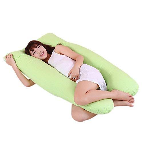Mutterschaft Schlaf Kissen (SuneWay Neu Mutterschaft Schwangerschaft Freund Arm Körper Schlafen Kissen Hüllen Schlaf U-Form Kissenbezug - Grün)