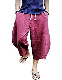 DianShaoA Hombres De Los Pantalones Cortos del Harem Retro Casual Pantalones  Cagados Hippies 39d200596e71