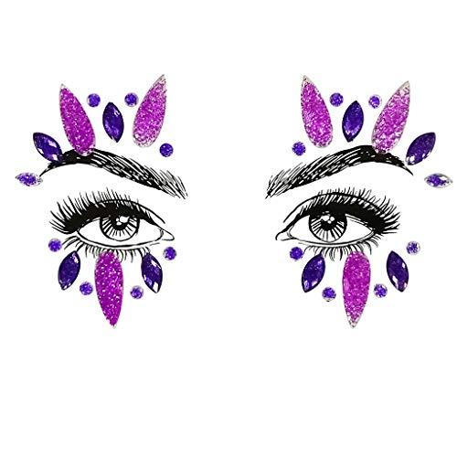 Beauty-Make-up Organizer Kosmetik Zubehör Make Up Beauty-Zubehör,Gesicht Edelsteine   Adhesive Glitter Jewel Tattoo Hochzeit Festival Rave Party Body Make Up (Für Anfänger Halloween-gesicht-malerei)
