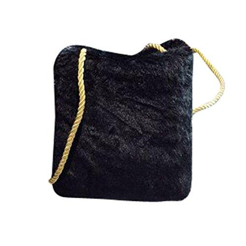 Bzline® Donna Messenger Shoulder Phone Coin Felpe Regalo Borsa Nera