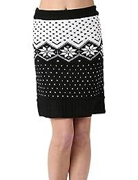 Miss Coquines - Jupe en maille motif hiver - Femme - Jupes