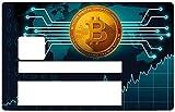 THELITTLESTICKER Bitcoin, Sticker pour Carte bancaire Type Electron, Zen, Carte Jeunes, Banque Postale - Différenciez et décorez Votre Carte bancaire Suivant Vos Envies!! Facile à Poser, sans Bulle