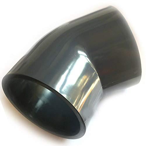 Adrenalin-Fishing PVC-U Fittinge 40mm Winkel Bogen 45° Druckklasse PN 10 = 10 bar nach DIN 8063 mit 2 X Klebemuffe für Koiteich & Gartenteich