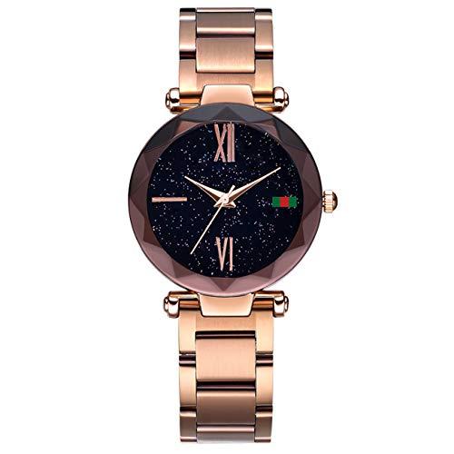 Hannah martin smael orologi da polso impermeabili magnetici elettronici per le donne,goldd4greenlabel