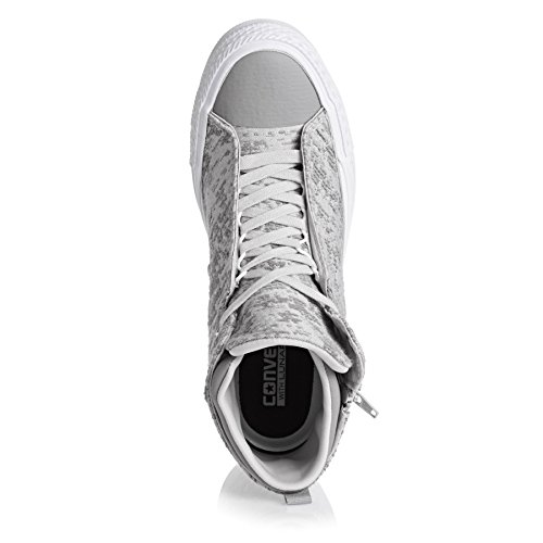 Converse Womens Chuck Taylor Selene Winter Knit Mid Textile Trainers Mouse/Metallic Glacier/Mouse