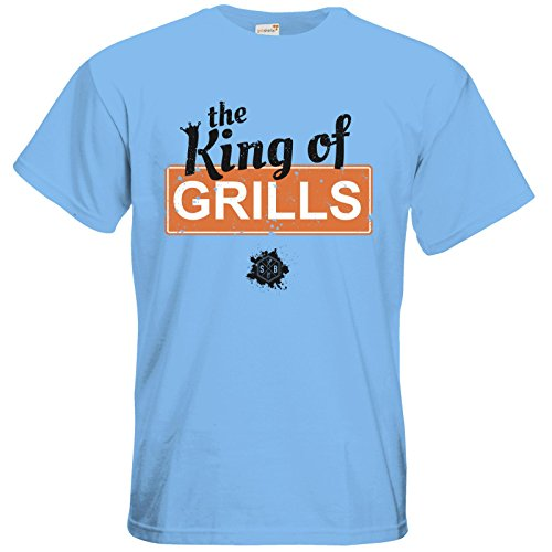 getshirts - SizzleBrothers Merchandise Shop - T-Shirt - SizzleBrothers - Grillen - King Of Grills Sky Blue