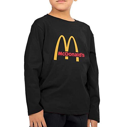 Jungen Sommer T-Shirt McDonalds Logo T Shirt Shirts Für Kleinkind Mädchen Jungen Ärmellose Schwarz 5/6 T ()